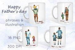 Dad clipart Mug Sublimation Father's Day clipart Product Image 1