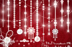 Hanging Pearl Chain Pearl String Pearl Strand Pearl Clip Art Product Image 1