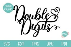 10th Birthday SVG | Double Digits Cake Topper SVG Product Image 5