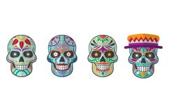 Sugar Skull Illustrations Product Image 1