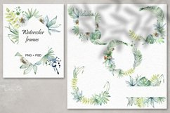Tropical summer. Watercolor set. Product Image 6
