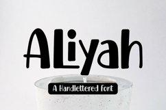 Web Font Aliyah - Handlettered Font Product Image 1