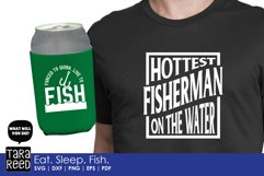 Eat Sleep Fish - Fishing SVG and Cut Files for Crafters Product Image 2