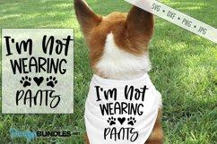 Im Not Wearing Pants SVG | Dog Scarf SVG |Paw Print SVG Product Image 1