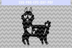 Funny Llama Papercut Template, Valentine Paper Art, SVG, DXF Product Image 2