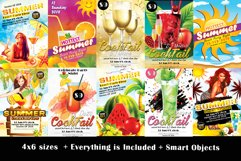 10 Summer Beach Cocktail Party Flyers Bundle Product Image 1