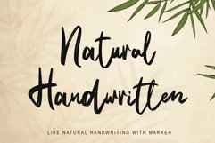 Natural Handwritten Product Image 1