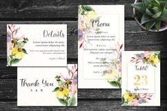 Colorful Daisy Flower Wedding Invitation Set Product Image 3