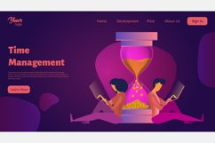 Time management. Landing page headers Product Image 9