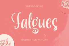 Web Font Falgues Font Product Image 1