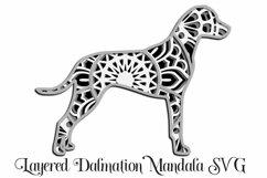 Dalmation Mandala Layered SVG - Paper Cutting - 4 Layers Product Image 1