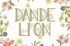 Dandelion Monogram Product Image 1