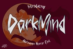 Dark Mind - Halloween Horror Font Product Image 1