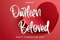 Web Font Darleen Beloved - Beauty Handwritten Font Product Image 1