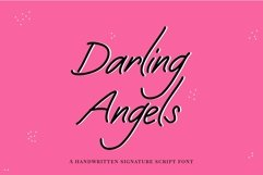Web Font Darling Angels - a handwritten signature font Product Image 1