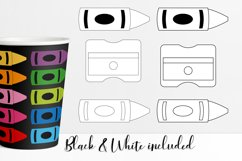 Crayons clipart illustrations bundle - rainbow colors Product Image 2
