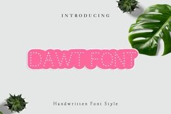 Dawt Font, Dotted Font, Tracing font, Handwritten font Product Image 1
