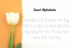 Dawt Font, Dotted Font, Tracing font, Handwritten font Product Image 2