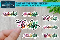 Days of the Week Sticker Bundle  Sticker Set Product Image 1