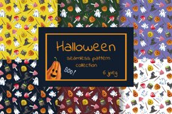 Halloween seamless pattern collection. Trick or treat print. Product Image 1