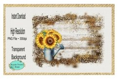 Sunflower Watering Can, Background Element Product Image 1