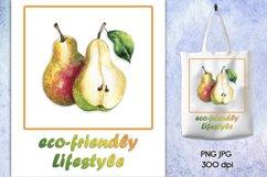 Sublimation design Eco-friendly Lifestyle, Eco bag print PNG Product Image 1