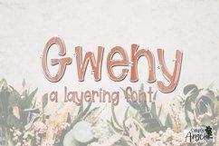 Gweny - a fun layering font Product Image 6