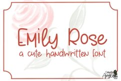 Emily Rose - a cute handwritten font Product Image 1