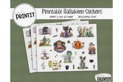 Printable Sticker Bundle, Halloween Stickers Product Image 1