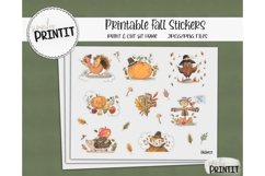 Printable Sticker Bundle, Fall Stickers Product Image 1