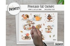 Printable Sticker Bundle, Fall Stickers Product Image 2