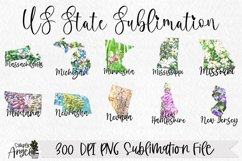 State Bundle Watercolor US State Flowers Product Image 4