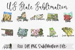 State Bundle Watercolor US State Flowers Product Image 5