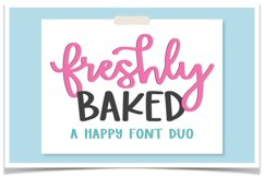 Freshly Baked Font Duo Product Image 1