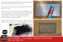 Doormat SVG and Cut files for Grandparents Product Image 2