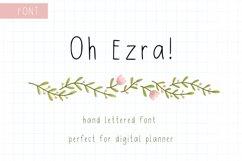 Digital Planner Hand Lettered Font Product Image 1