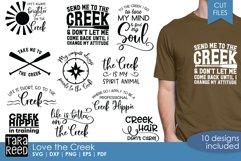 Creek sayings for crafters - 9 creek theme svg and cut files