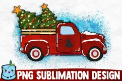 Christmas Old Truck - Christmas Sublimation Product Image 1