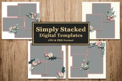 Simply Stacked Digital Scrapbooking Templates Product Image 1