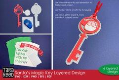 layers included in 3D Santas Magic Key Layered Paper Cut Design
