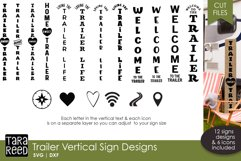 Trailer Vertical Signs - Camping SVG & Cut Files Product Image 1