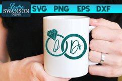 I Do Wedding Rings SVG | Wedding SVG Product Image 1