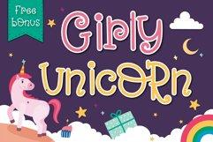 Girly Unicorn font Handwritten- cute kid font Kawaii style Product Image 1