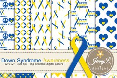 Down Syndrome Awareness Digital Papers and Cipart SET Product Image 1