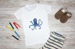 Watercolour sea life Ocean animals Product Image 4