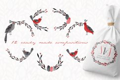Lovebirds folk art bird illustrated collection Product Image 5