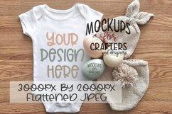 Baby Bodysuit Mock-Up, Easter theme Product Image 1