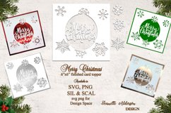"""6""""x6"""" Merry Christmas Snowflakes christmas card cutting file Product Image 1"""