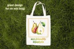 Sublimation design Eco-friendly Lifestyle, Eco bag print PNG Product Image 2