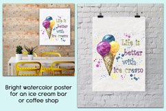 Sublimation design Life is better with ice cream PNG Product Image 2